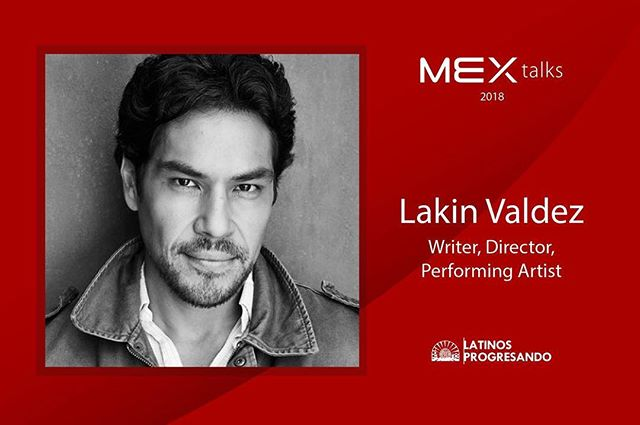 Next up on the #RoadtoMEXtalks, we are proud to shine the speaker spotlight on Lakin Valdez. Born and raised in the extended family of El Teatro Campesino, Lakin served as the company's Associate Artistic Director from 2000-2005.  Join him and four other speakers at this year's #MEXtalks on September 6th at the Goodman Theatre. Get your tickets today [LINK IN BIO] before they sell out!