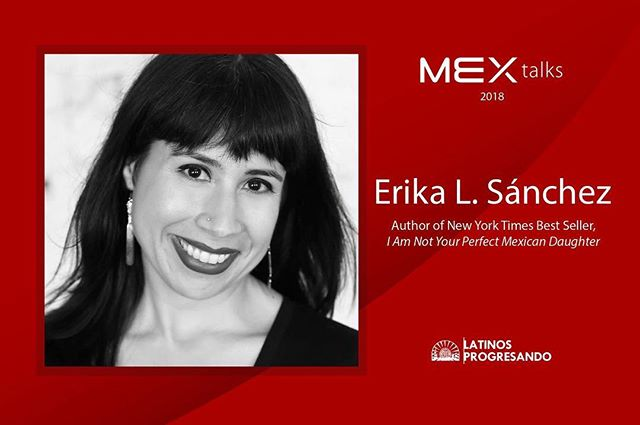 Today, we're shining the #MEXtalks speaker spotlight on the daughter of Mexican immigrants @erikalsanchez. A poet, essayist, and fiction writer, she is the author of the poetry collection, Lessons on Expulsion (Graywolf), a finalist for the PEN America Open Book Award. She is also a 2017-2019 Princeton Arts Fellow. #RoadtoMEXtalks  Join her and four other amazing speakers at MEX talks 2018 on September 6th at the Goodman Theatre. There's only a few tickets left, so get yours today at: goodmantheatre.org/mextalks