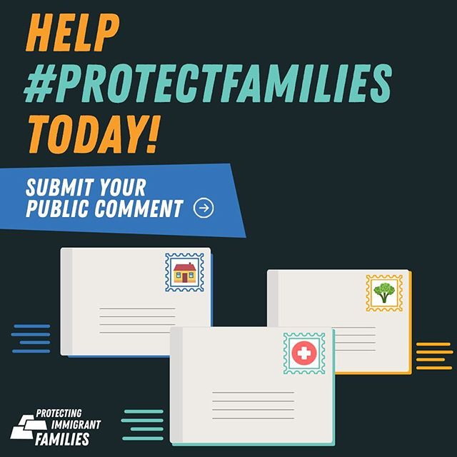 """The Trump administration's proposed changes to the """"public charge"""" rule would punish immigrants for accessing basic needs programs, and force families to decide between their health and well-being and having a permanent, secure future together. TAKE ACTION. You can stop this cruel new attack on families by leaving a comment during the public comment period here: https://bit.ly/2DkDdeq"""