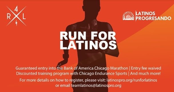 Today is the LAST DAY to apply and receive a guaranteed entry to the Bank of America Chicago Marathon before the fundraising commitment increases by $500. Join #TeamLatinos now: latinospro.org/runforlatinos – – Give it your all, get even more. #Run4Latinos @chimarathon
