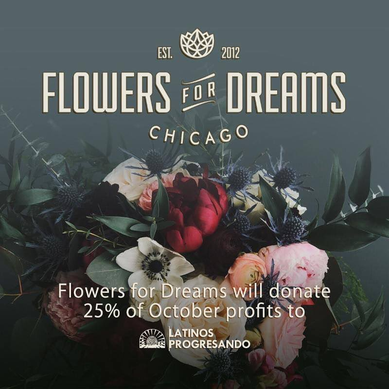 Are you making plans to celebrate a special day in October? Consider buying beautiful flowers from @flowersfordreams as 25% of their October 2019 profits will be donated to Latinos Progresando!
