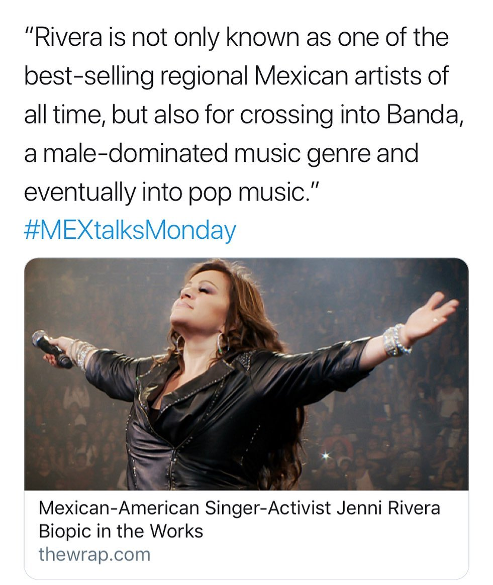 """Rivera is not only known as one of the best-selling regional Mexican artists of all time, but also for crossing into Banda, a male-dominated music genre and eventually into pop music."" #MEXtalksMonday . . . . Link in bio."