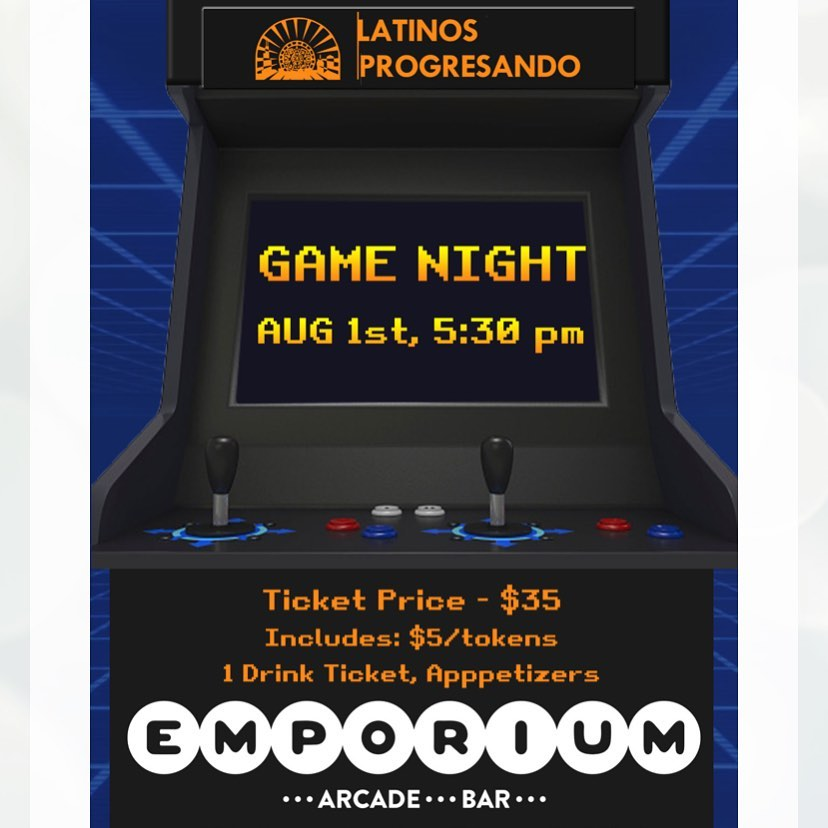 Join Latinos Progresando's Associates Board (LPAB) for Game Night TOMORROW at Emporium Logan Square. Enjoy an evening of networking, food and drink, and, of course, your favorite classic video games—all while supporting an amazing organization. . . . Get your tickets now! Link in bio.