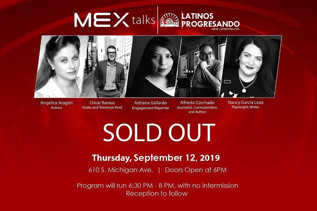 This year's MEX talks event is officially sold out, but that doesn't mean you have to miss out. LIKE Latinos Progresando on Facebook to enjoy the event live on September 12th at 6PM from wherever you are.