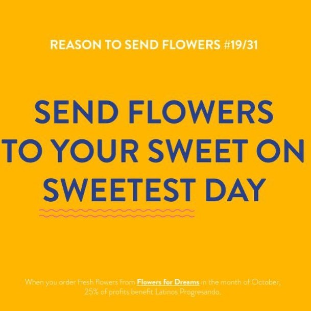 Show your sweetie you appreciate them by sending them a bouquet from Flowers for Dreams. Don't forget that 25% of their October profits will be donated back to LP.
