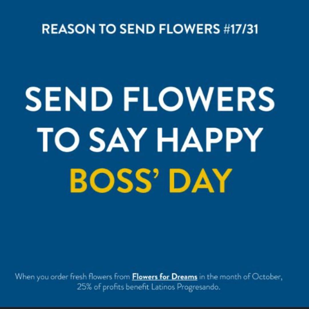 Thank your boss for all their hard work with a fall bouquet from Flowers for Dreams. Flowers for Dreams is donating 25%of October profits back to LP.
