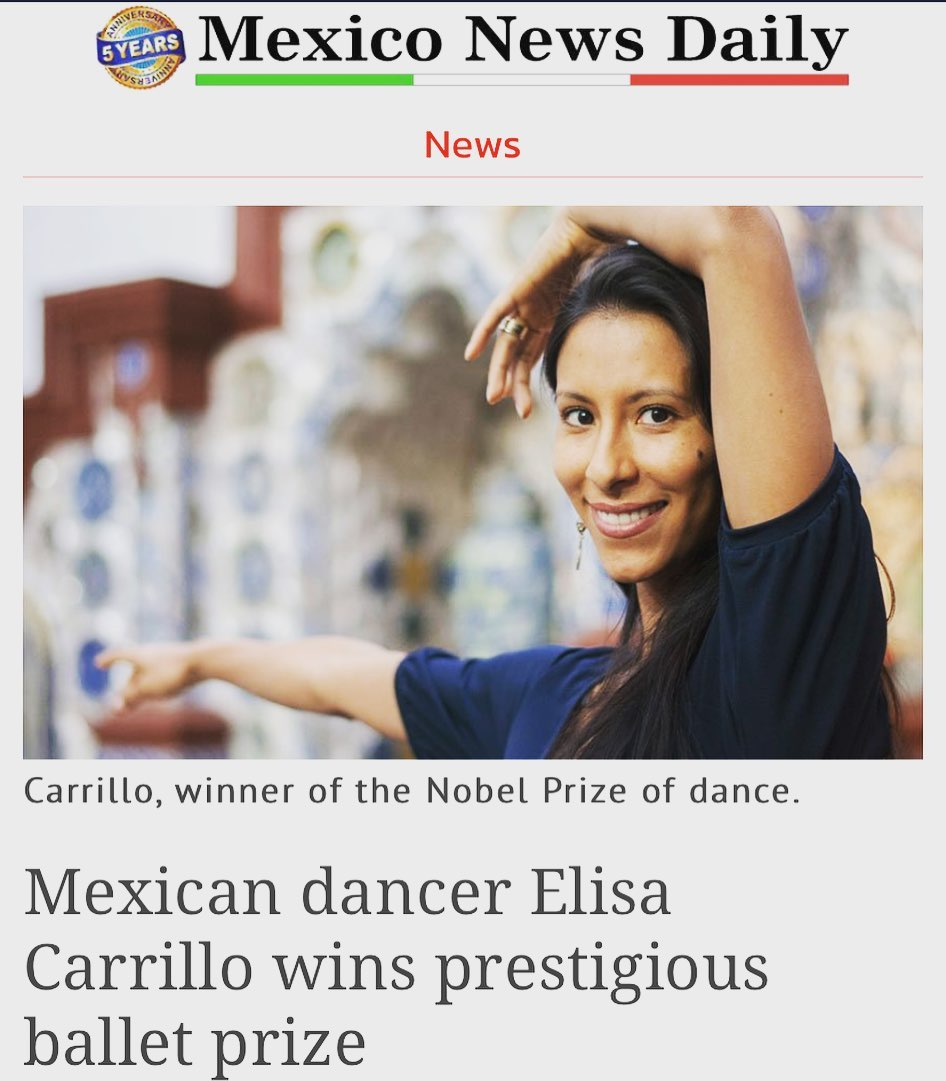 """""""I dedicate this prize to the Mexican people,"""" @elisacarrillocabrera said. """"We'll never stop fighting and working to achieve our dreams."""" #MEXtalksMonday . . Link in bio"""