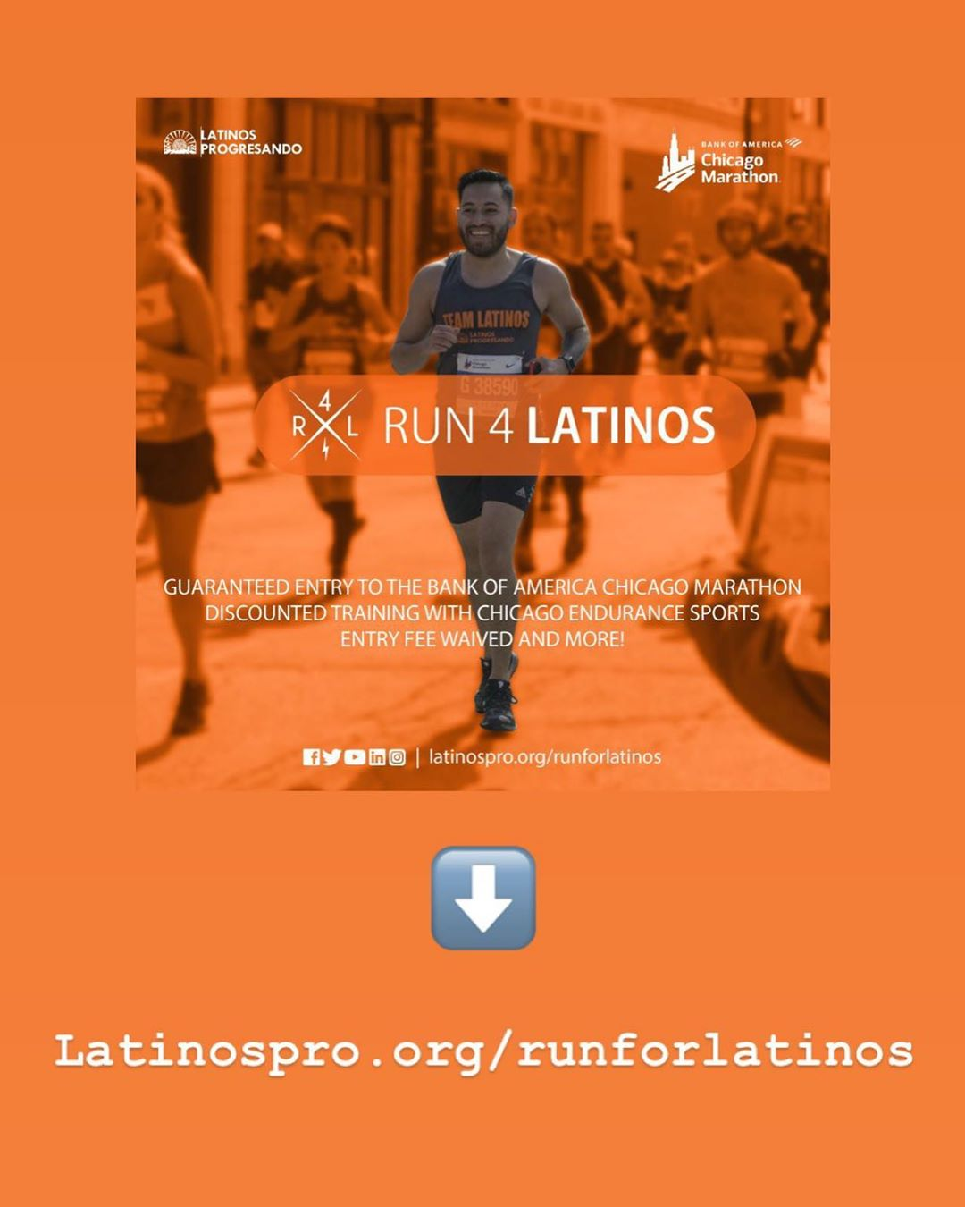 Today is the LAST DAY to apply and receive a guaranteed entry to the Bank of America Chicago Marathon before the fundraising commitment increases by $500. Don't miss your chance join #TeamLatinos now: latinospro.org/runforlatinos