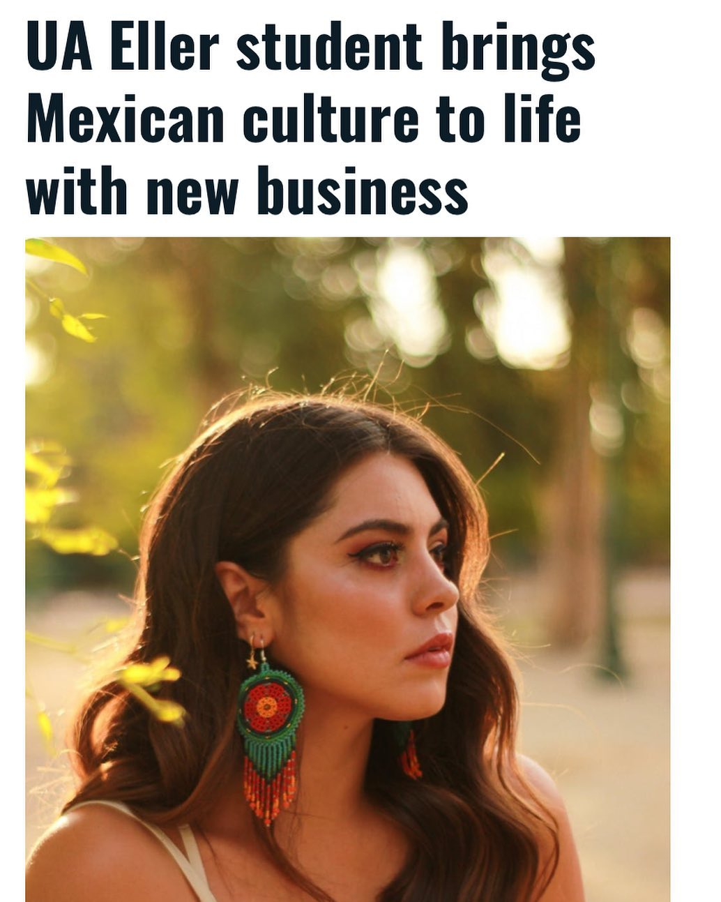 """""""Rodriguez's mission is to """"help, share, and empower her culture."""" Rodriguez said she sells things at a fair price, both for her customers and for the artists behind the products. She wants the artisans to get the recognition they deserve."""" #MEXtalksMonday . . LINK IN BIO"""