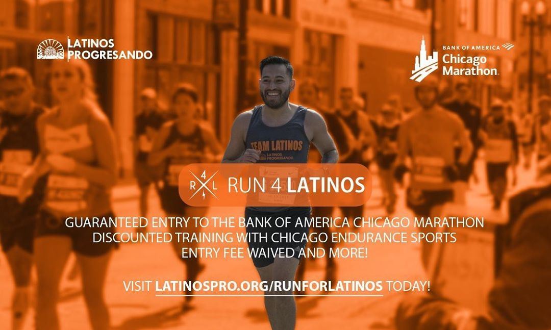 There is no better way to start your 2020 journey than by signing up to #Run4Latinos at the Bank of America Chicago Marathon! The drawing may have passed but Latinos Progresando still has a slot with your name on it.  Visit latinospro.org/runforlatinos to register and find out all the benefits of being part of #TeamLatinos. 🏃‍♀️ 🏃 *There are ONLY 5 spots left so do it now. @chimarathon