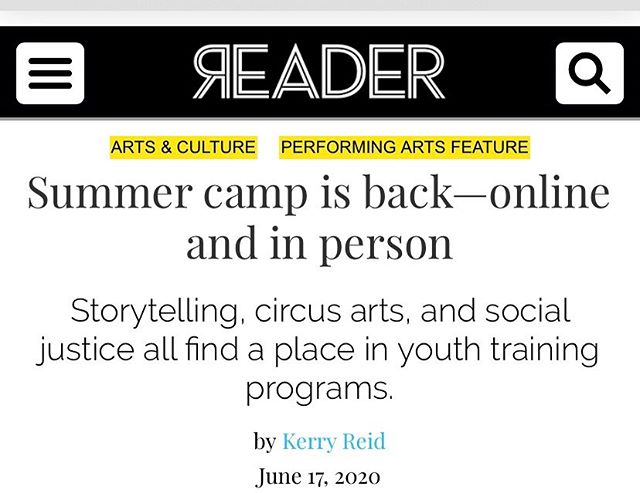 Special thank you @chicago_reader for highlighting the wonderful work of Teatro Americano and helping us get the word out about our first virtual theater apprenticeship.  https://m.chicagoreader.com/chicago/summer-camp-is-back-online-and-in-person/Content?oid=80721627